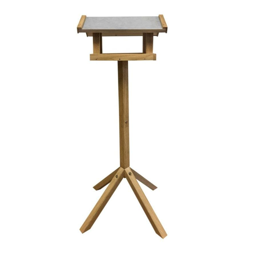 Rectangle Roof Oak Standing Bird Table at the Farthing