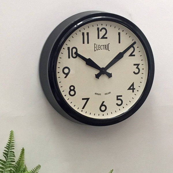 Newgate Iconic Electric Wall Clock - Black - The Farthing  - 1