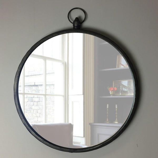 Round Industrial Wall Mirror | Farthing 1