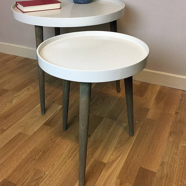 Round Lipped Side Table - Clay - The Farthing  - 1