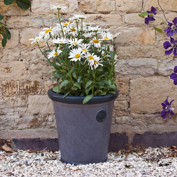 Round Royal Elite Planter in Grey - 30cm - The Farthing
