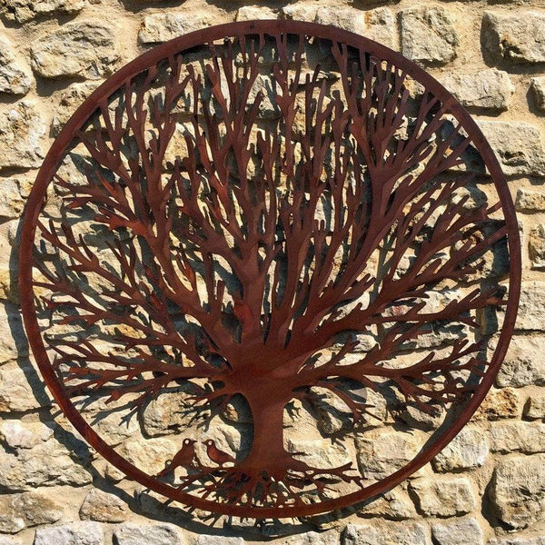 Round Rustic Metal Tree Wall Art - The Farthing