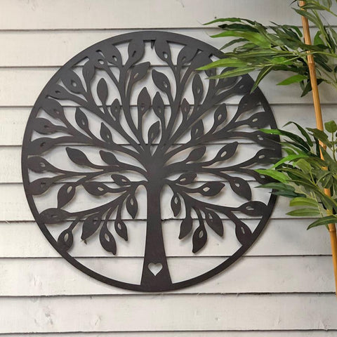Round Rustic Metal Wall Art   Tree Of Life | Farthing