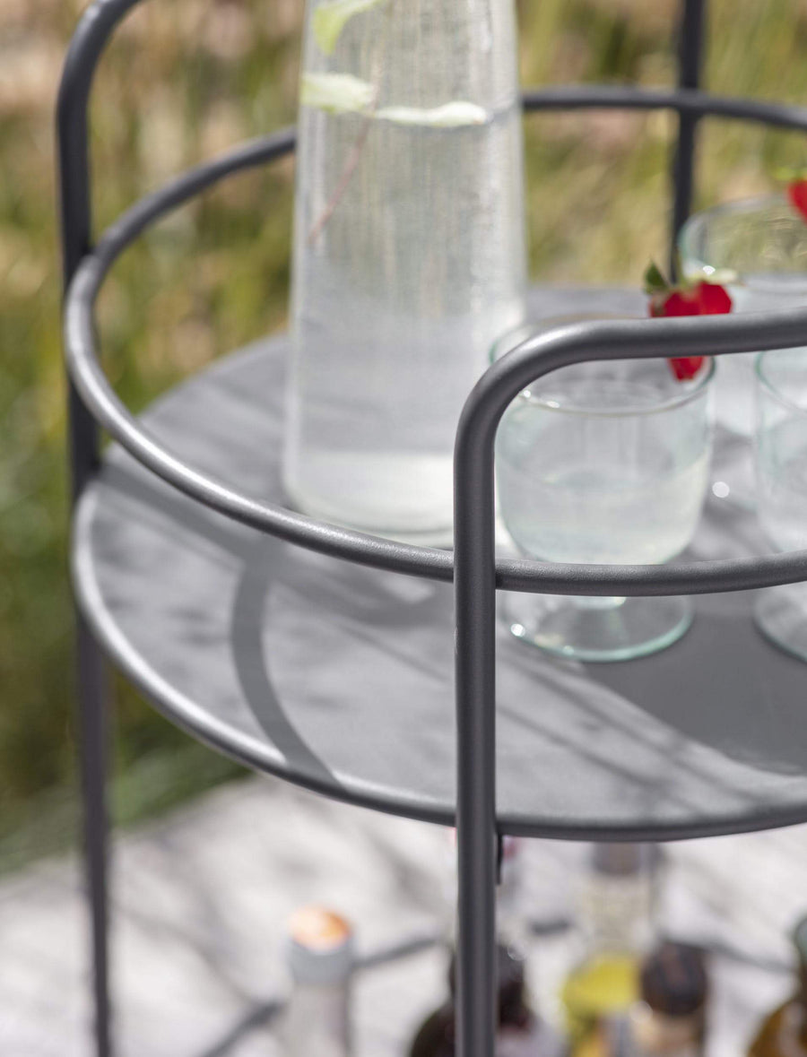 Round Drinks Trolley - Carbon | Farthing