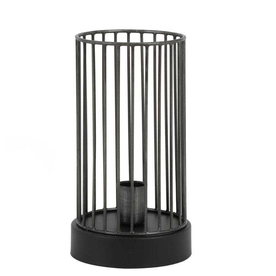 Round Cage Table Lamp - Steel at the Farthing 1