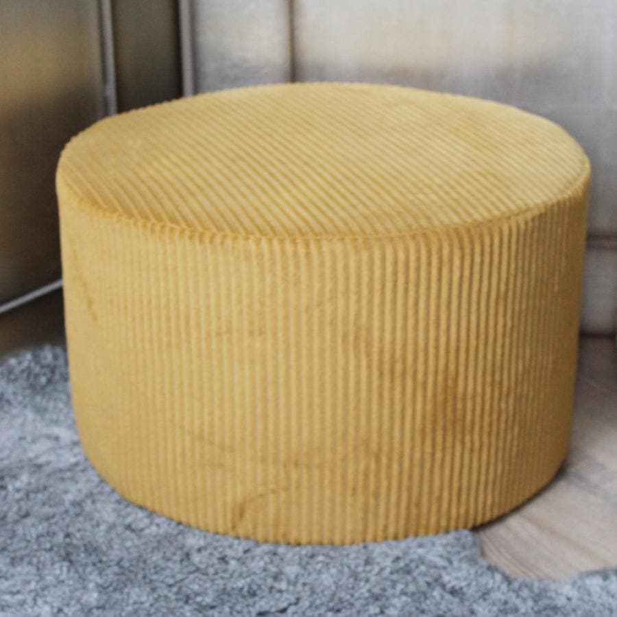 Round Corduroy Pouffe at the Farthing