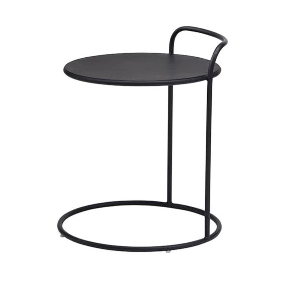 Round Metal Florent Side Table at the Farthing
