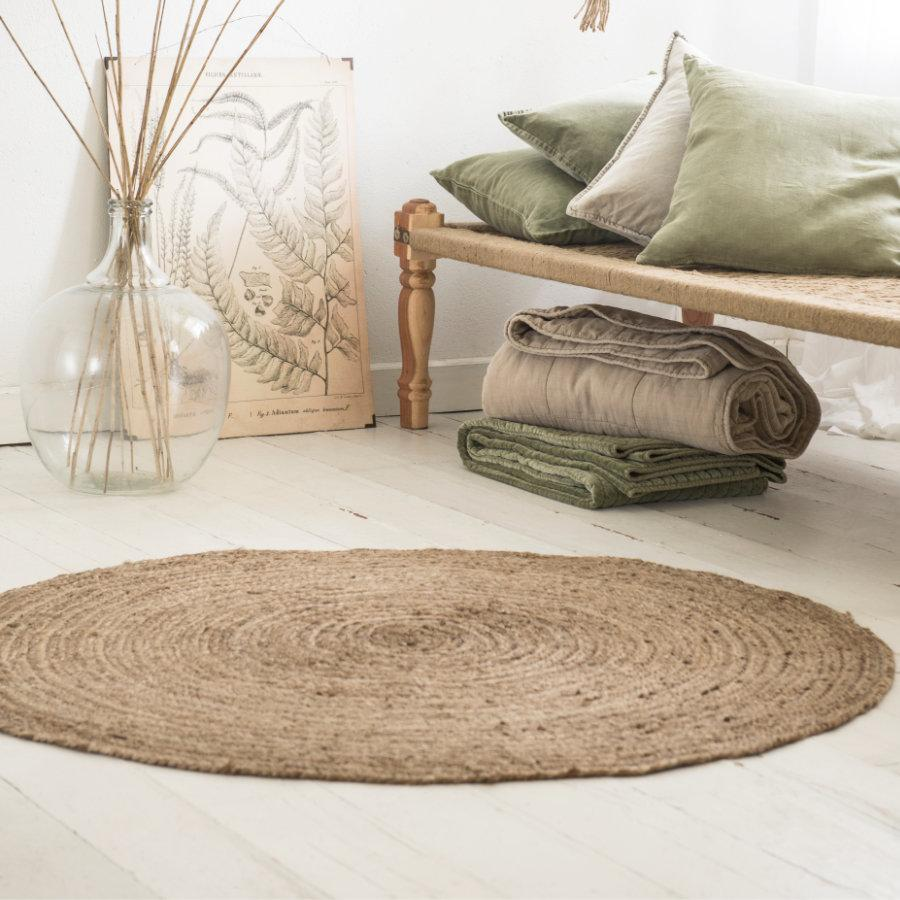 Round Natural Jute Rug at the Farthing