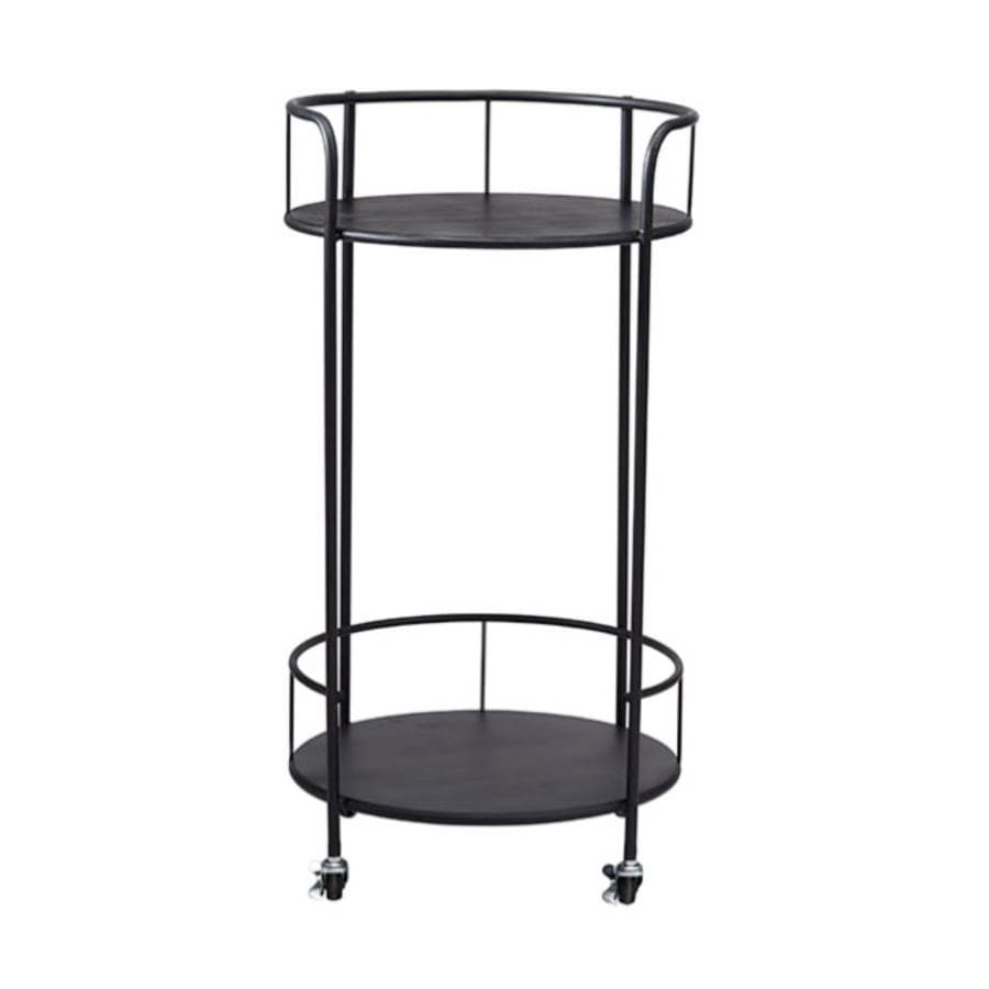 Round Open Side Trolley Side Table at the Farthing
