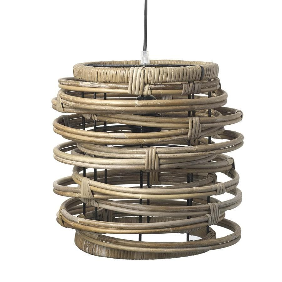 Round Rattan Pendant Light at the Farthing