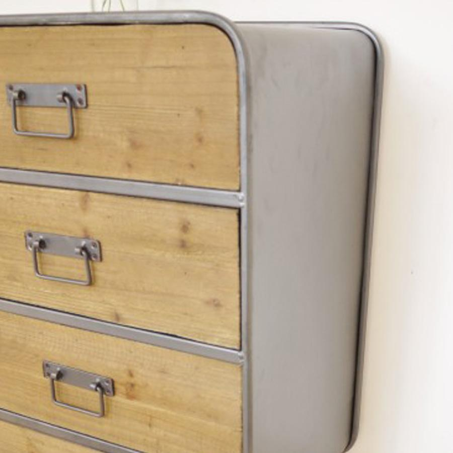 Rounded Edge Industrial Cabinet | The Farthing
