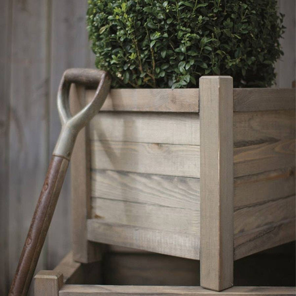 Rustic Aldsworth 40cm Wooden Planter - The Farthing