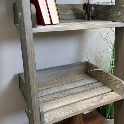 Rustic Aldsworth Wooden Shelf Ladder - The Farthing