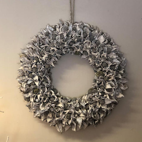 Rustic Alpine Natural Pinecone Wreath at the Farthing
