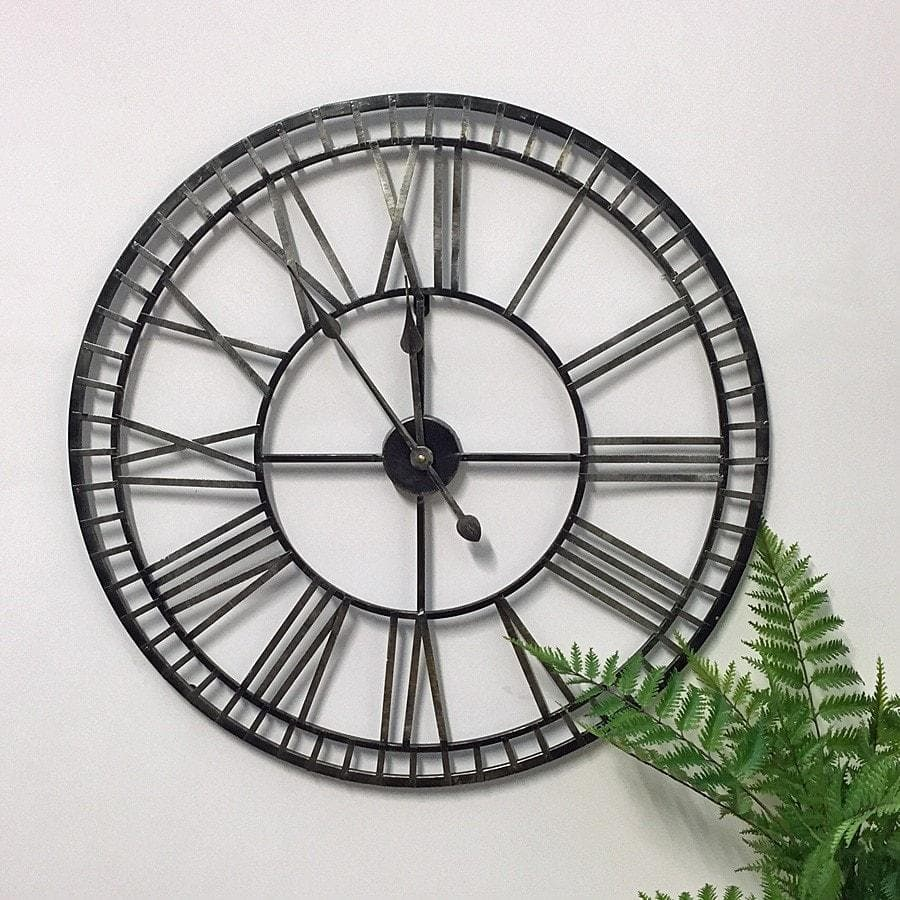 Rustic Black & Gold Skeleton Clock at the Farthing 3