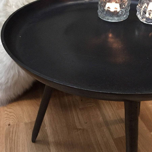 Rustic Bronze Metal Side Table Shabby Chic The Farthing