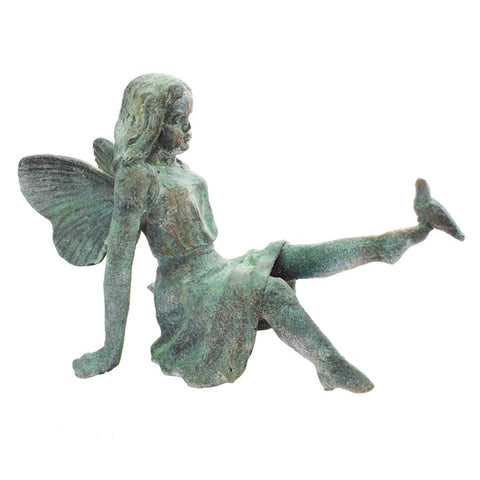 Rustic Cast Iron Fairy Statue