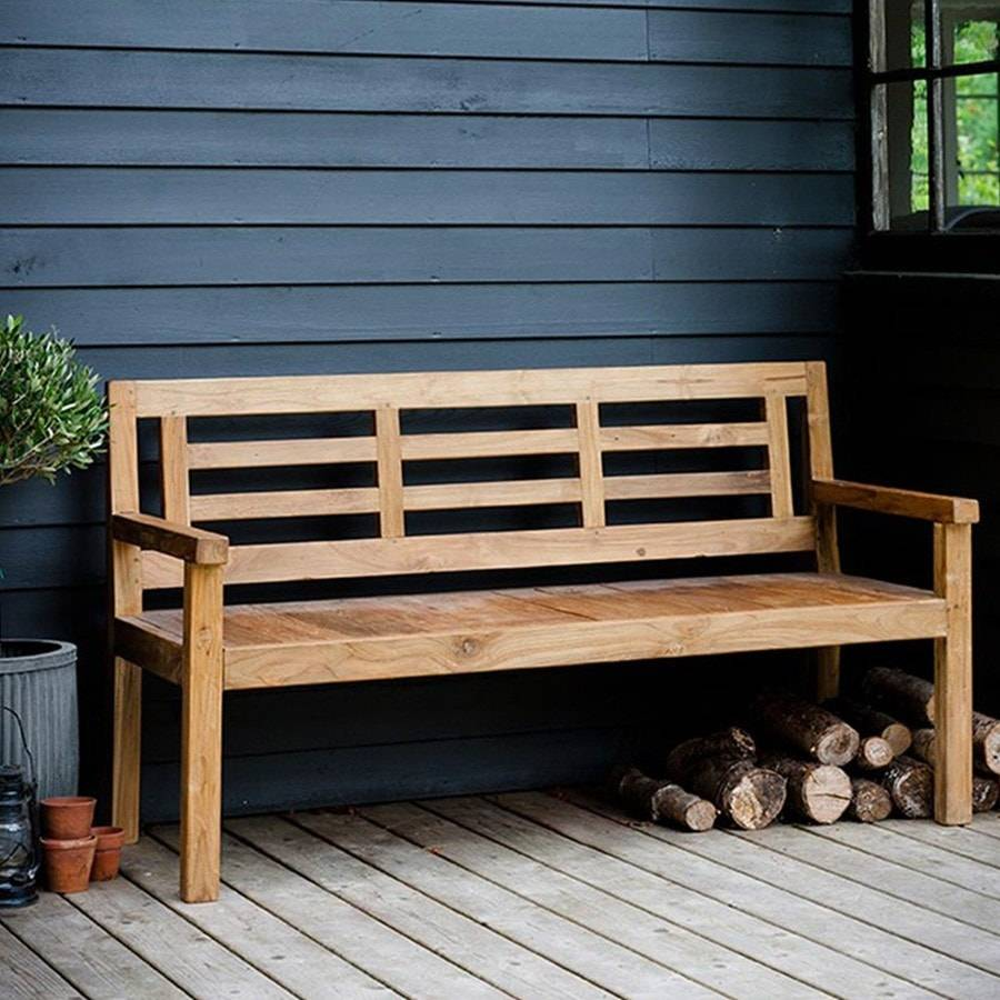 Rustic Chic Reclaimed Teak Chastleton Solo Bench The