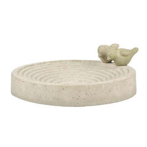 Rustic Concrete Bird Bath - The Farthing