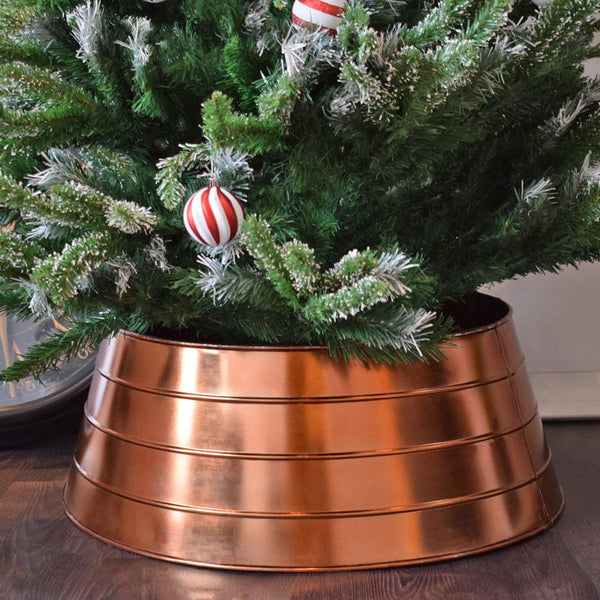 Rustic Copper Christmas Tree Ring | Farthing 2