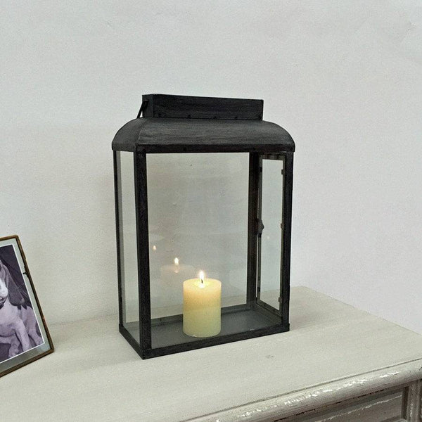 Rustic Distressed Grey Salway Metal Lantern - The Farthing