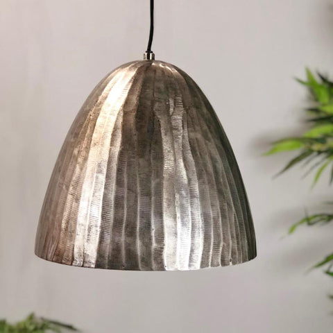 Rustic Dome Metal Pendant Light | Farthing 1