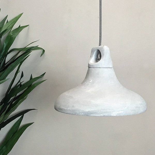 Rustic Dorset Cement Pendant Light - The Farthing