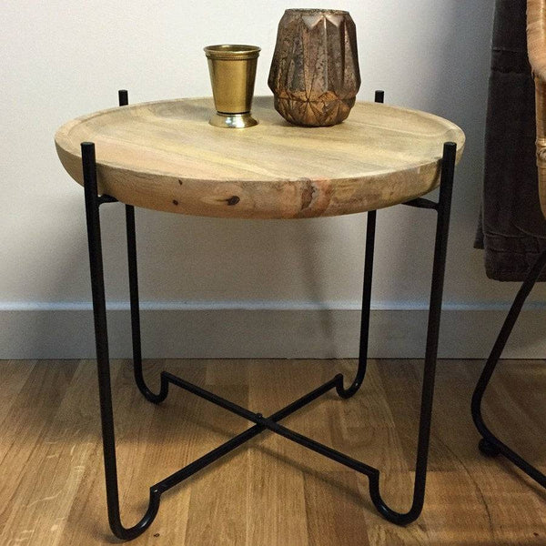 Rustic Dorset Round Side Table at the Farthing