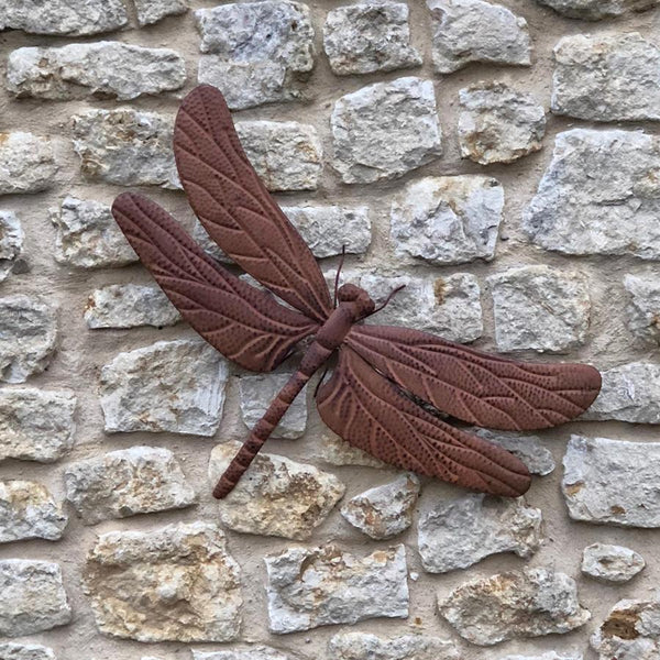 Rustic Dragonfly Garden Wall Art at the Farthing