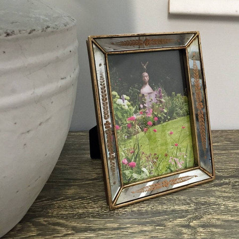 Rustic Gold Artisan Mirrored Photo Frame - The Farthing