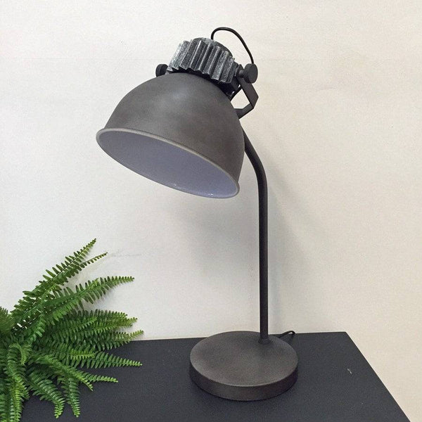 Rustic Graphite Task Lamp - The Farthing