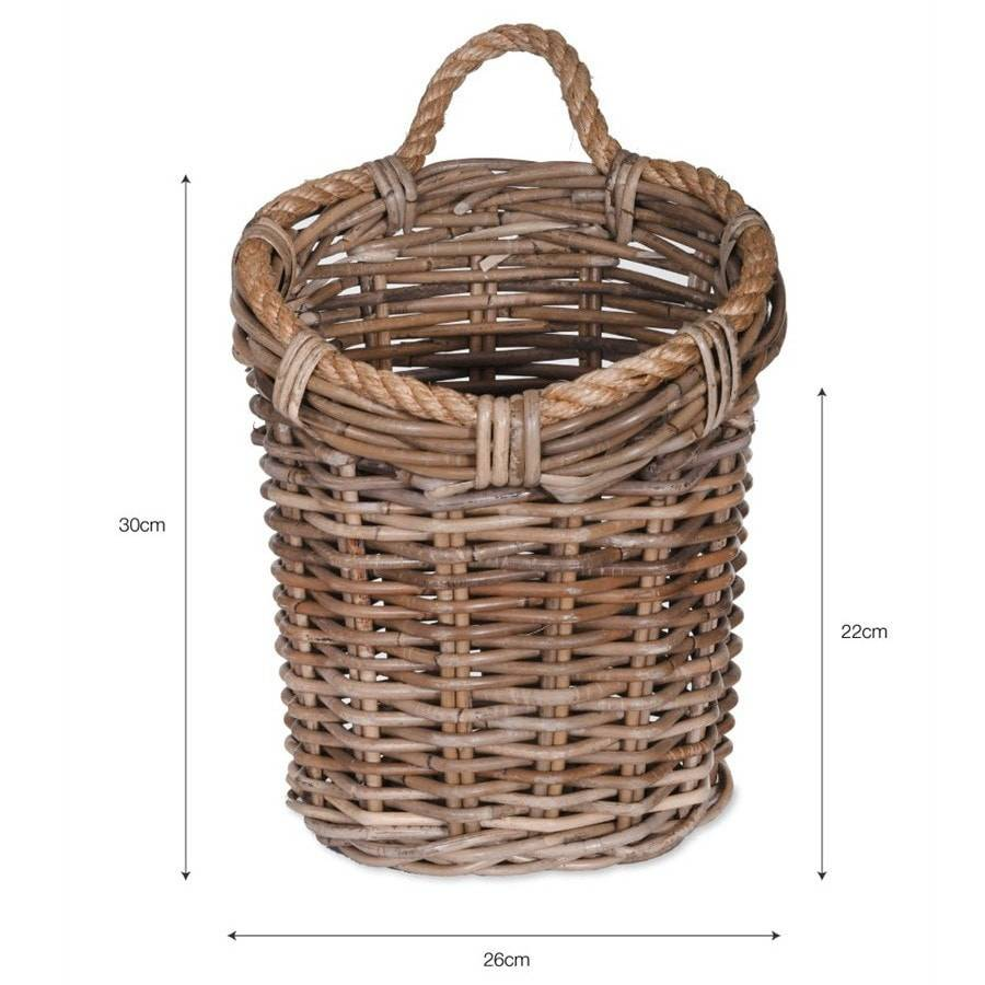 Rustic Hanging Storage basket - The Farthing  - 1