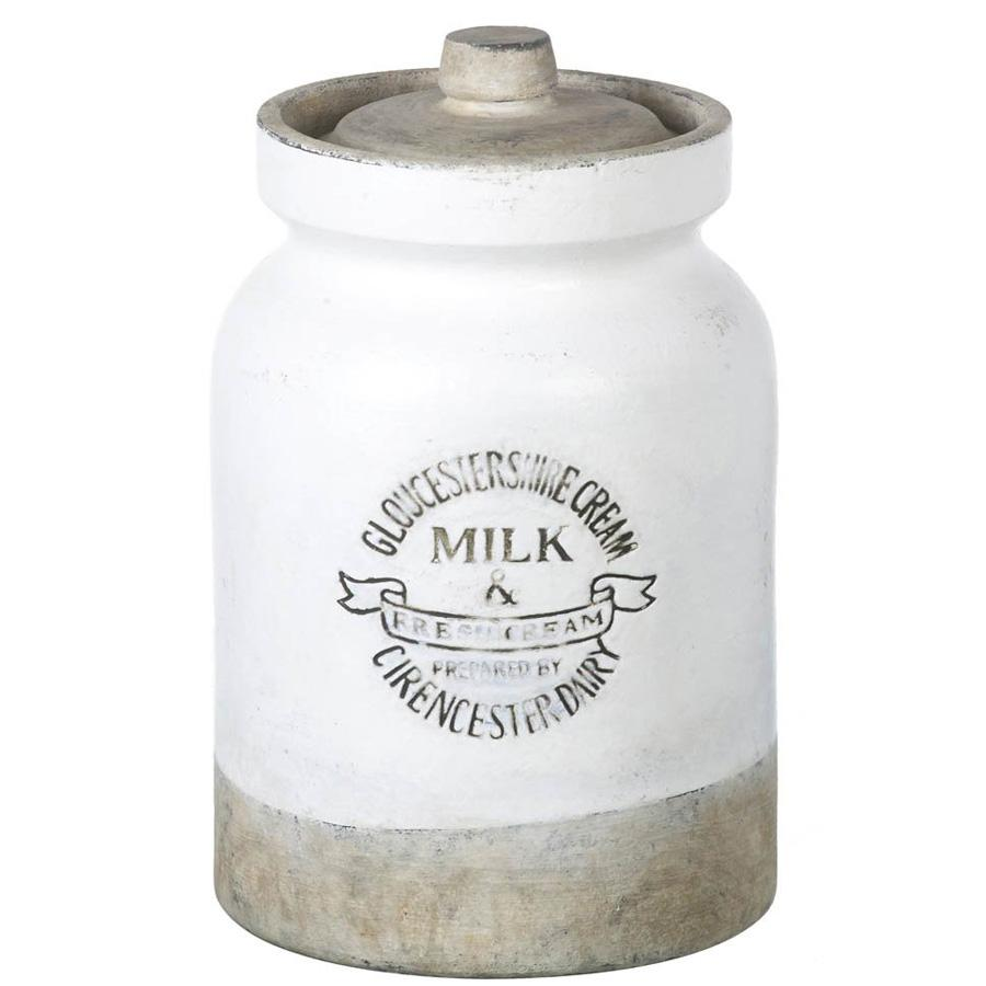 Rustic Kitchen Storage Jar - White | Farthing