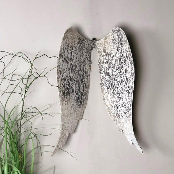 Rustic Metal Angel Wings at the farthing