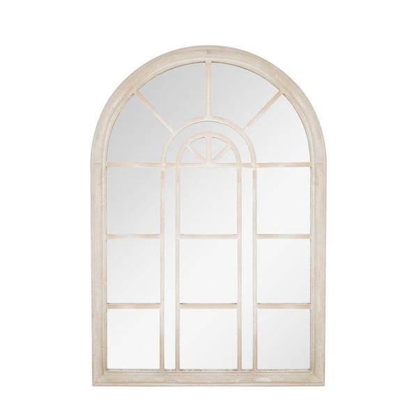 Rustic Metal Garden Arc Mirror | Outdoor Arched Window Mirror   Small   The  Farthing