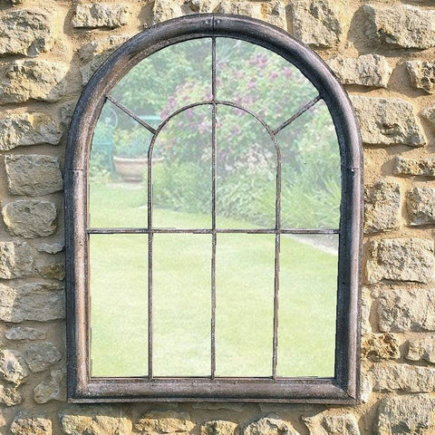 Rustic Metal Garden Window Mirror at the Farthing