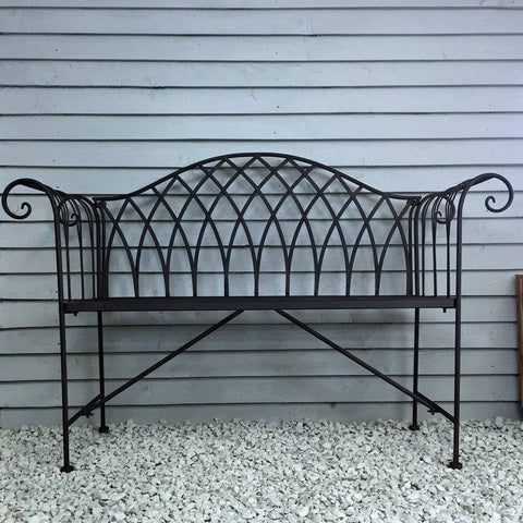 Rustic Metal Kingspark Garden Bench - The Farthing
