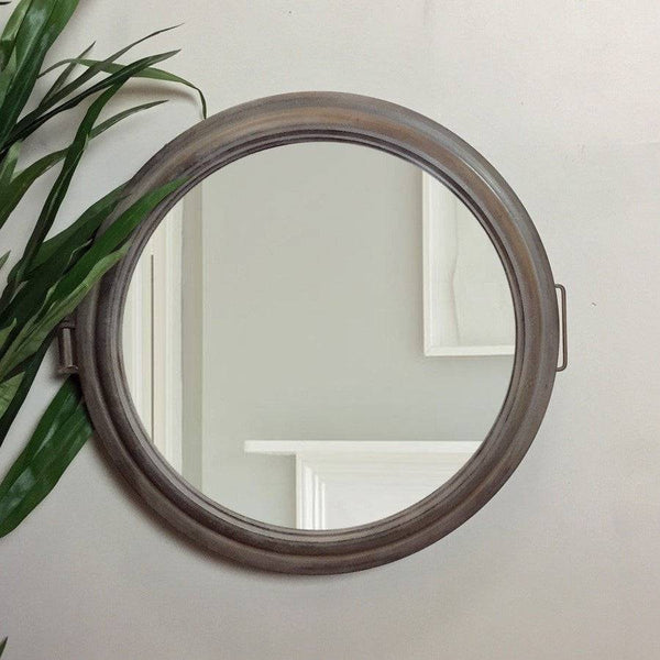 Rustic Metal Porthole Mirror - The Farthing