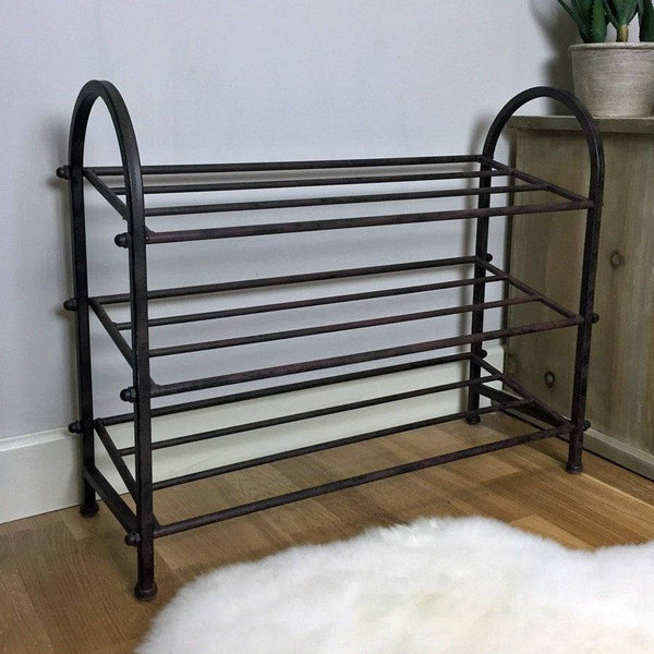 Rustic Metal Shoe Rack - The Farthing