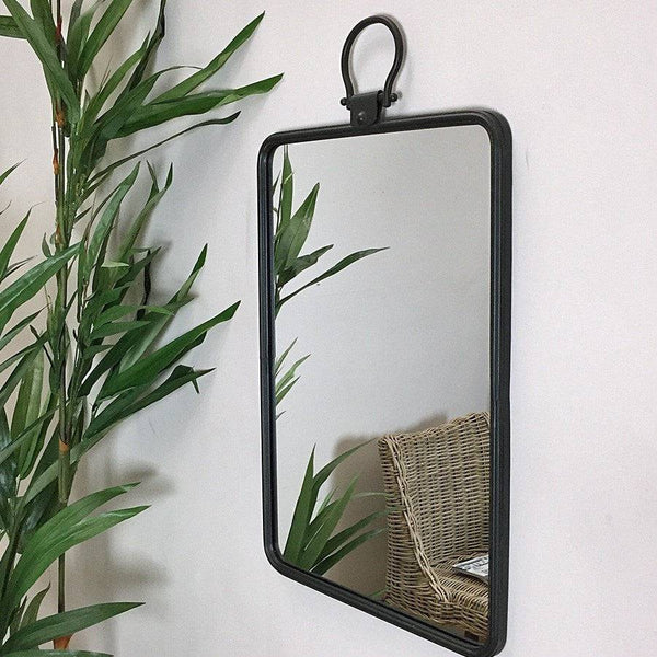Rustic Parisian Metal Wall Mirror at the Farthing