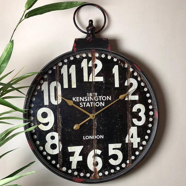Rustic Pocket Watch Wall Clock | Farthing 2