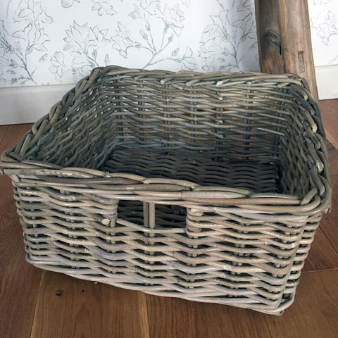 Rustic Rattan Storage Basket at the Farthing 2