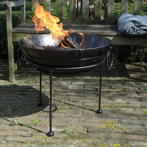 Rustic Reclaimed metal fire bowl  - Large - The Farthing