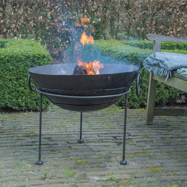 Rustic Reclaimed metal fire bowl  - Medium - The Farthing