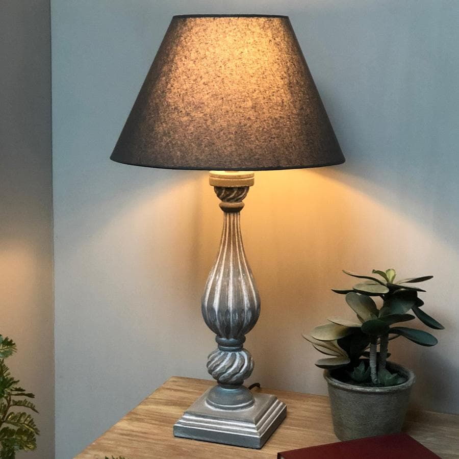 Rustic Ribbed Tear Drop Lamp & Shade - The Farthing  2