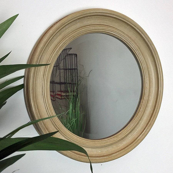 Rustic Round Dorset Wall Mirror - The Farthing