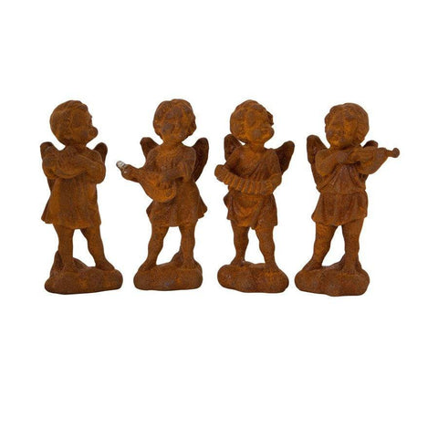 Rustic Rusty Cherubs Set of 4 - The Farthing