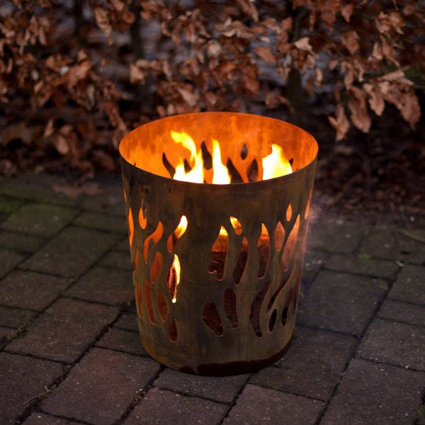 Rustic Rusty Fire Log Burner - The Farthing  - 1