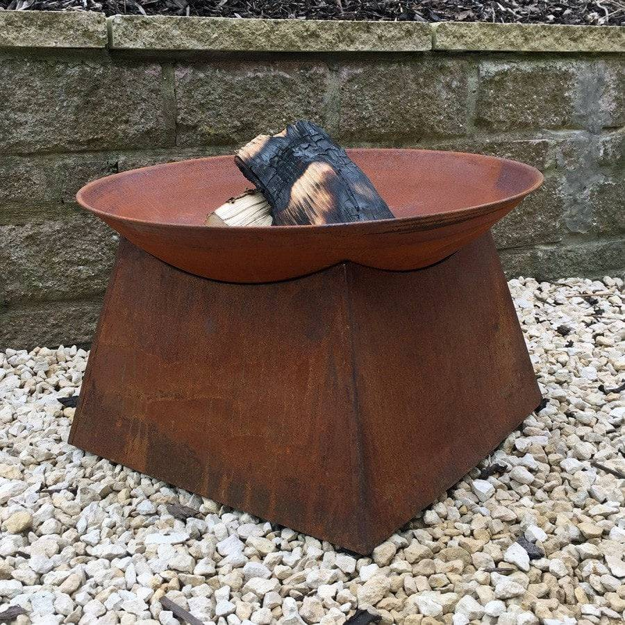 Rustic Rusty Fire Pit Brazier - The Farthing