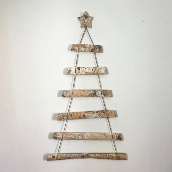 Rustic Silver Birch Wooden Hanging Tree | Farthing